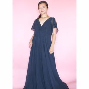 (481) Gorgeous Navy Blue Evening Gown